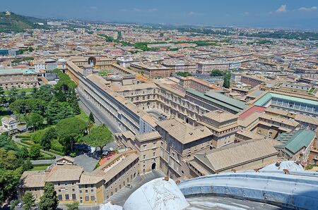 Panoramic View above Vatican Museums and Rome