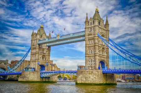 Tower Bridge, Historical Landmark in London, UK photo