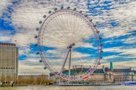 The London Eye Panoramic Wheel, London, UK Editorial