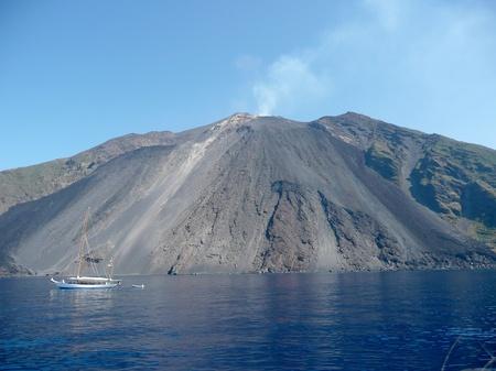 stromboli: Stromboli, active volcano which is part of the Aeolian Islands Archipelago