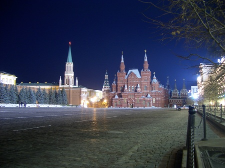 Red Square at night, Moscow, Russian Federation photo