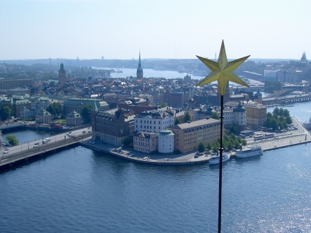 Aerial view of Gamla Stan, Stockholm, Sweden photo
