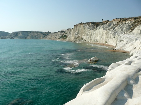 De Rocky White Cliffs genoemd Trap van de Turken, Sicilië, Italië