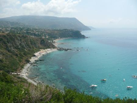 capo: Aerial View of the Coastline at Capo Vaticano, Italy