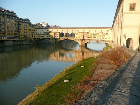 View over Ponte Vecchio, Florence, Italy photo