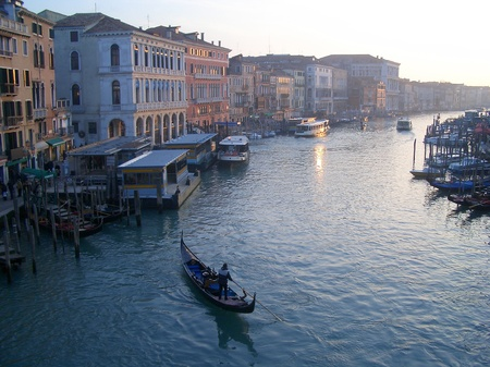 View of The Grand Canal from Rialto Bridge, Venice, Italy Stock Photo