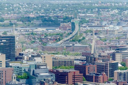 prudential: Aerial View of Central Boston from the Prudential Tower