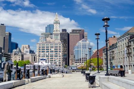Boston Harbor and Skyline, USA