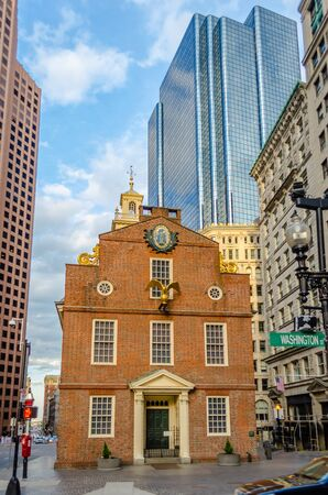 Old State House, Historic Building in central Boston, USA photo