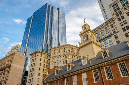 Old State House, historisch gebouw in het centrum van Boston, USA