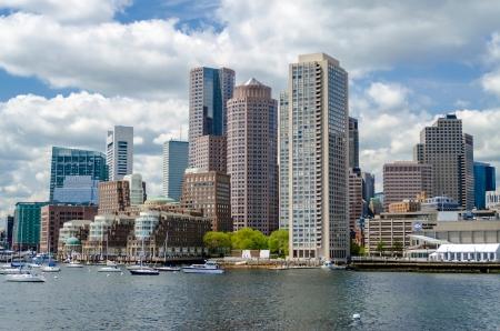 Horizon de Boston comme vu de la baie