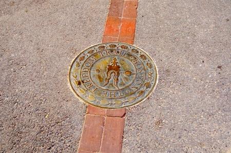 The Freedom Trail Sign, Boston Downtown, USA Stockfoto