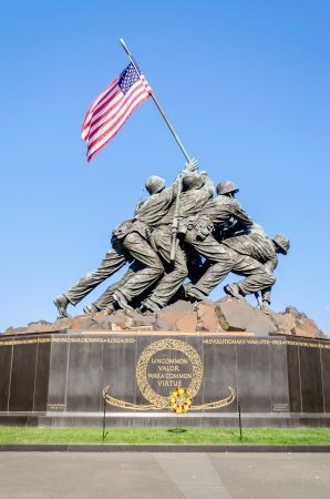 World war 2: The Marine Corps War Memorial  Iwo Jima Memorial