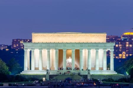 Lincoln Memorial in Washington DC de VS in de schemering