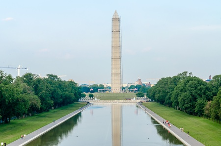 Washington Monument and Reflecting Pool, Washington DC, USA photo