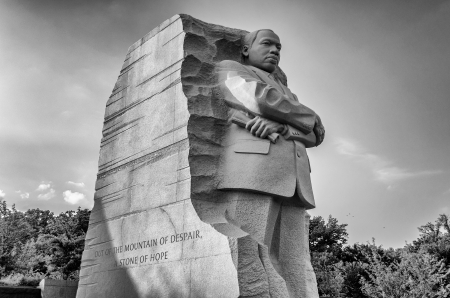 Le monument à Martin Luther King, Washington DC Banque d'images