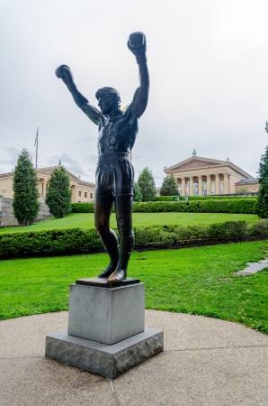 Rocky Statue in Philadelphia, USA Editorial