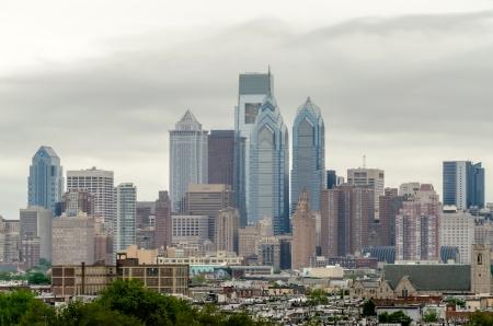 Horizon de Philadelphie, lumière du jour Banque d'images