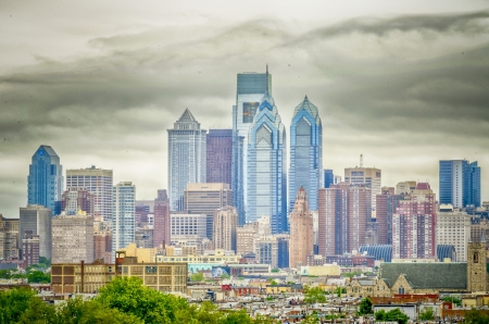Philadelphia Skyline, daylight photo