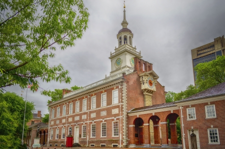 center hall colonial: Independence Hall in Philadelphia, Pennsylvania, USA