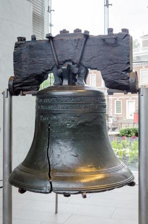 curvature: Liberty Bell in Philadelphia, Pennsylvania, USA Stock Photo