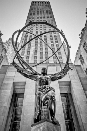 Atlas Statue in the Rockefeller Center, New York Editorial