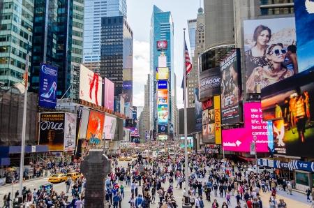 el tiempo: Times Square, Nueva York  Editorial