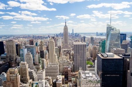 Horizon de New York, Panorama sur Manhattan depuis le haut de la plate-forme d'observation Rocks