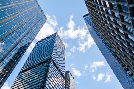 empire state building: Skyscrapers in Manhattan, New York City Stock Photo