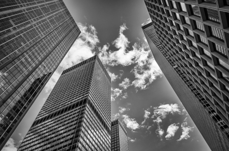 Gratte-ciel à Manhattan, New York City Banque d'images