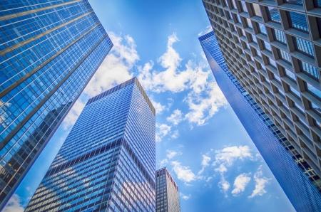 Skyscrapers in Manhattan, New York City Stock Photo