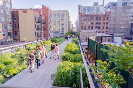 garden city: El High Line Park, Nueva York Editorial