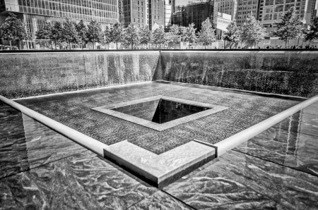 Septembre National Memorial 11, New York Banque d'images