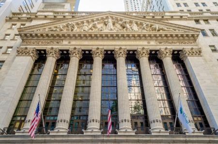 bolsa de valores: Wall Street, Nueva York Foto de archivo