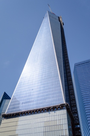 world trade center: One World Trade Center aka the Freedom Tower Stock Photo
