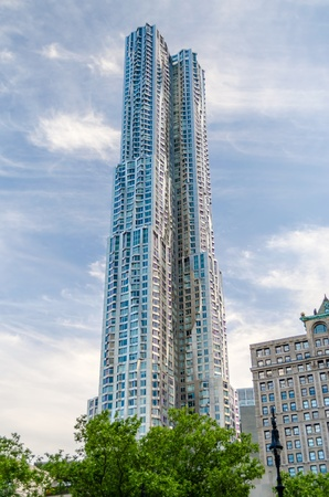 The Beekman Tower, also known as 8 Spruce St  or New York by Gehry Stock Photo