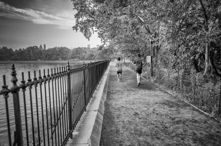 Typical path for Jogging in Central Park, New York photo