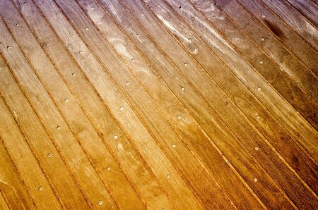 Wooden Boardwalk Background, Weathered and rough textured