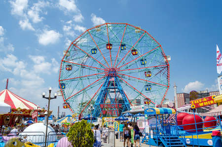 The famous Wonder Wheel in Coney Island
