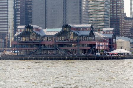 Pier 17 at South Street Seaport in Lower Manhattan, New York photo