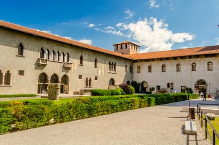 Inner Castle Courtyard at Castelvecchio, Verona, Italy