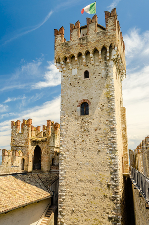 sirmione: Scaliger Castle on the Garda Lake, Sirmione, Italy