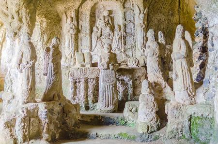 Eglise sculpté dans le tuf, Pizzo Calabro, sud de l'Italie
