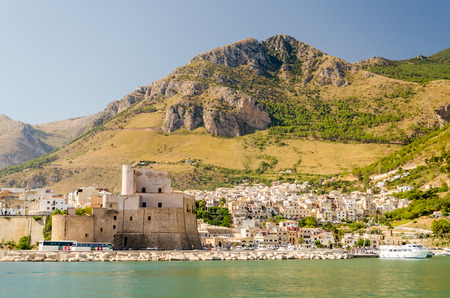 Castellammare del Golfo, a typical sicilian town by the sea Stock fotó