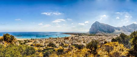 capo: Panoramic View of San Vito Lo Capo, Sicily, Italy