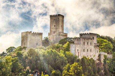 View over Medieval Castle of Venus in Erice, Sicily