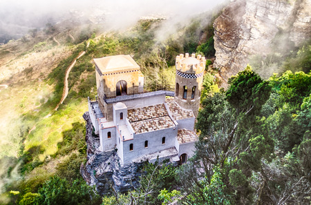 Small Old Castle Pepoli in Erice, Sicily, summer 2014