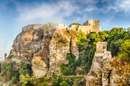 View over Medieval Castle of Venus in Erice, Sicily, summer 2014