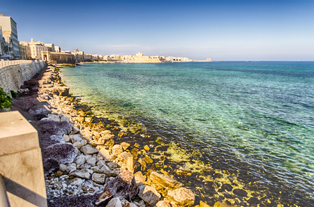 Seafront of Trapani, Sicily, Italy Stock Photo