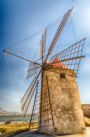 trapani: Old Windmill for Salt Production, Trapani, Sicily